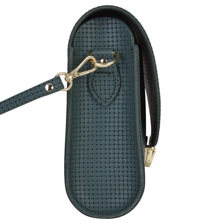Large Push Lock in Leather - Fir Lattice