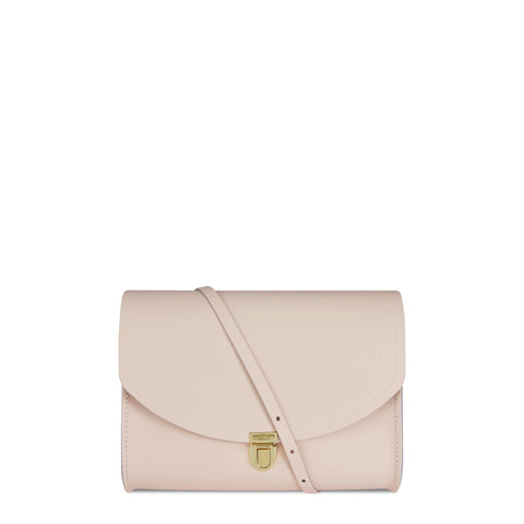 Large Push Lock in Leather - Cloud Pink Matte