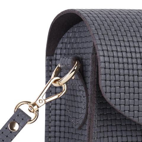 Push Lock in Leather - Dapple Matte Lattice