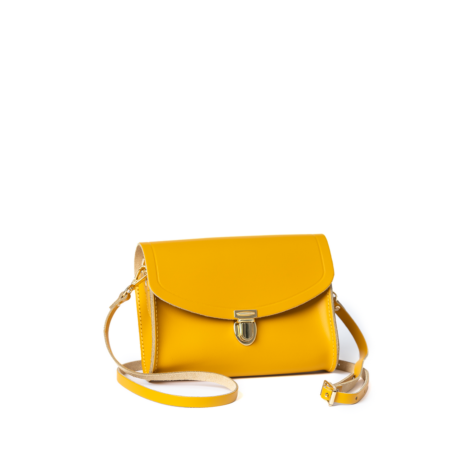 Push Lock in Leather - Lemon Curd