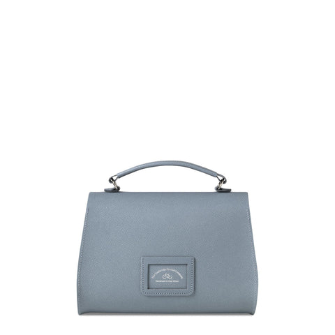Poppy Bag in Saffiano Leather - French Grey Saffiano