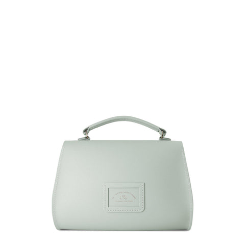 Poppy Bag in Saffiano Leather - Matte Eggshell
