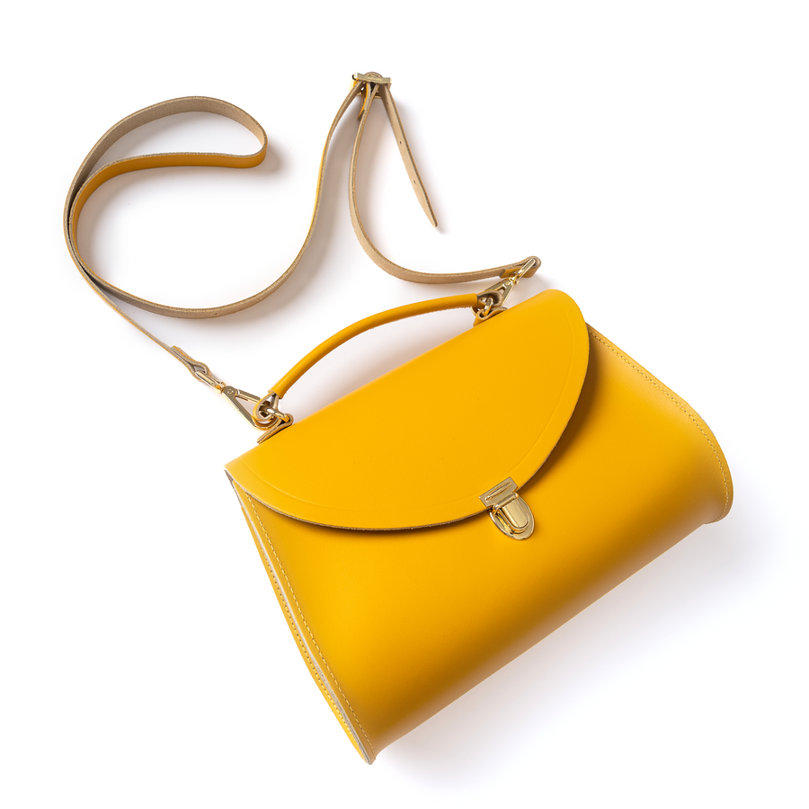 Poppy Bag in Leather - Lemon Curd