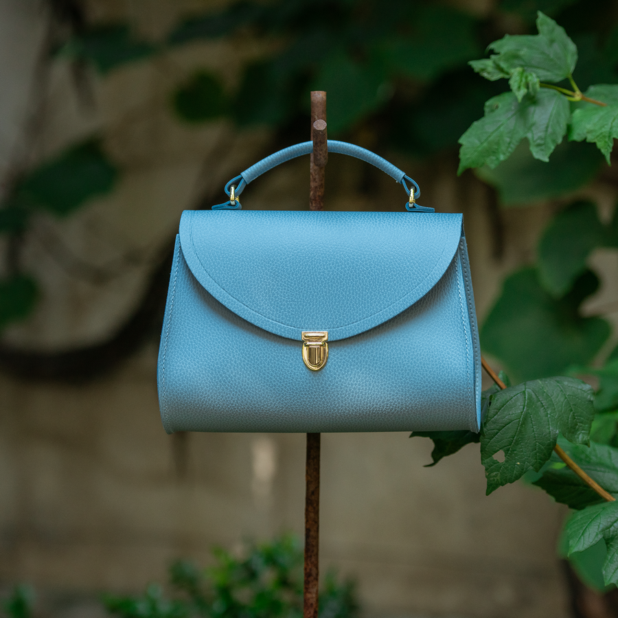 Poppy Bag in Leather - Delphinium Matte Celtic Grain