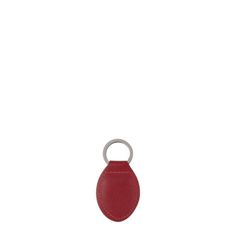 Keyring in Saffiano Leather - Red
