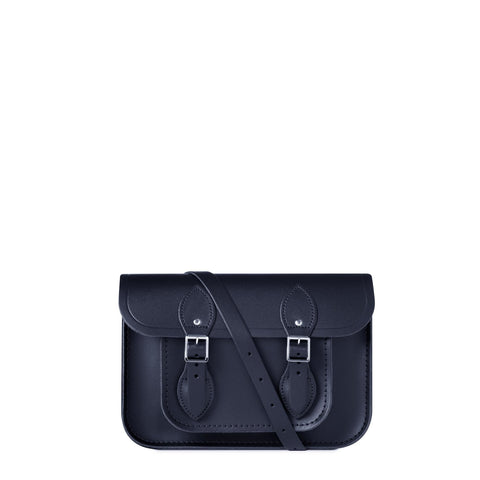 11 inch Magnetic Satchel in Leather - Navy