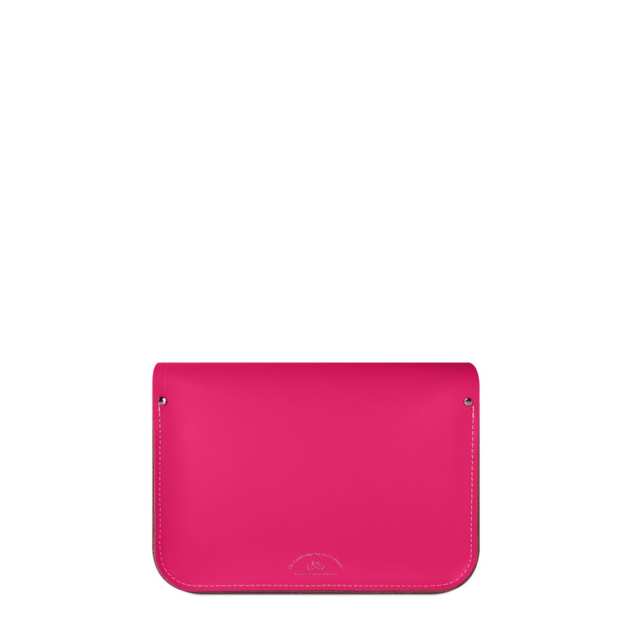 11 inch Magnetic Satchel in Fluoro Leather - Pink