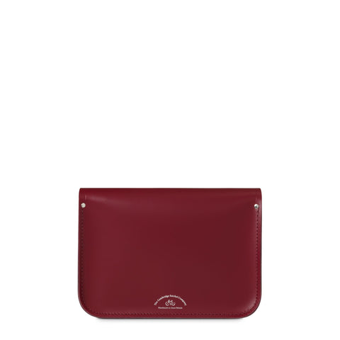 11 inch Magnetic Satchel in Leather - Rhubarb Red