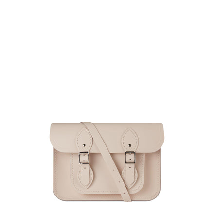 11 inch Magnetic Satchel in Leather - Chalk