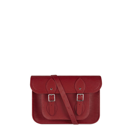 11 Inch Satchel in Leather - Red 1914 Grain