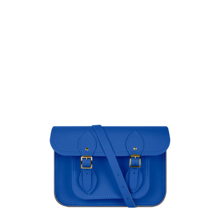 11 inch Magnetic Satchel in Leather - Electric Cornflower Matte | Cambridge Satchel