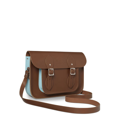 University of Cambridge 11 inch Satchel in Leather - Vintage & Cambridge Blue