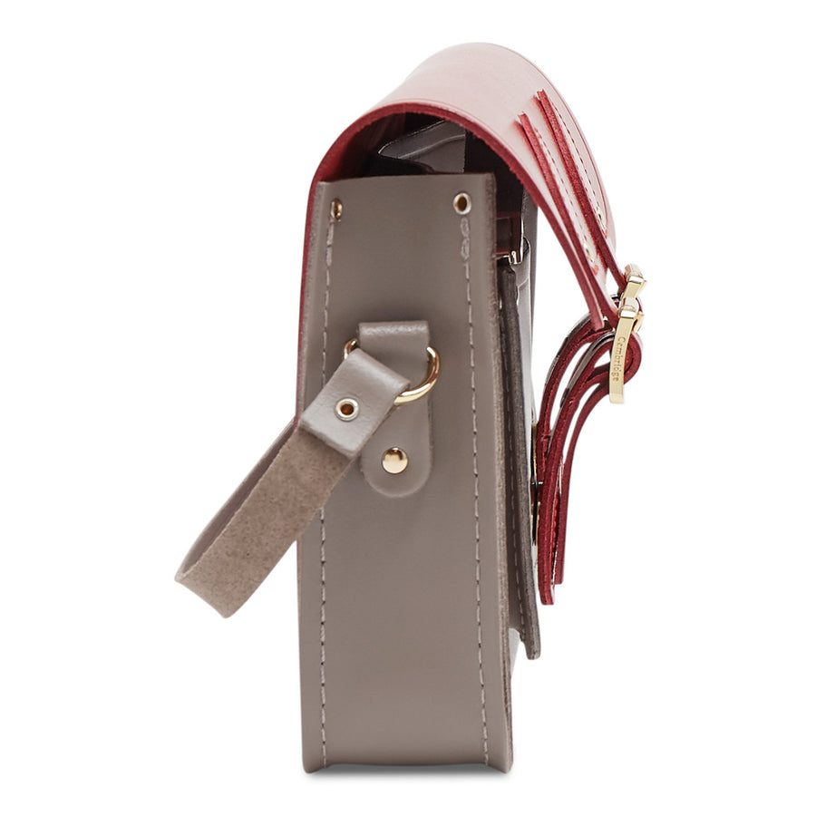 11 inch Magnetic Satchel in Leather - Glamour & Mink | Unisex Leather Satchel