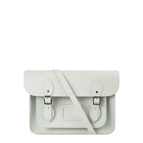 13 inch Magnetic Satchel in Leather - Matte Eggshell