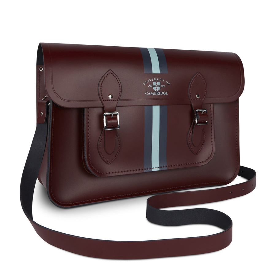 15 Inch University of Cambridge Satchel in Leather - Oxblood