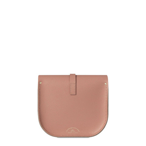 Large Saddle Bag in Leather - Terracotta Grain