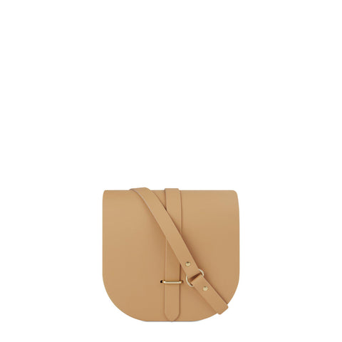 Saddle Bag in Leather - Honey Matte