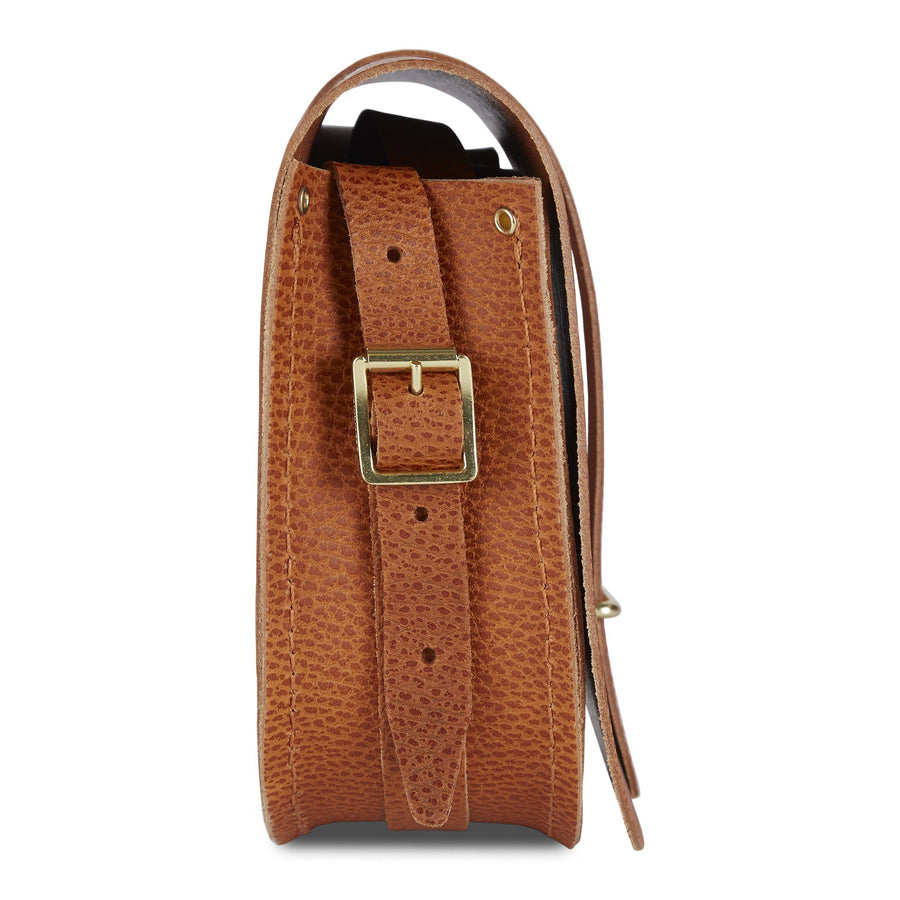 Saddle Bag in Celtic Grain Saddle  Leather - Canyon