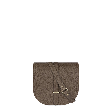 Saddle Bag in Celtic Grain Saddle Leather - Grey