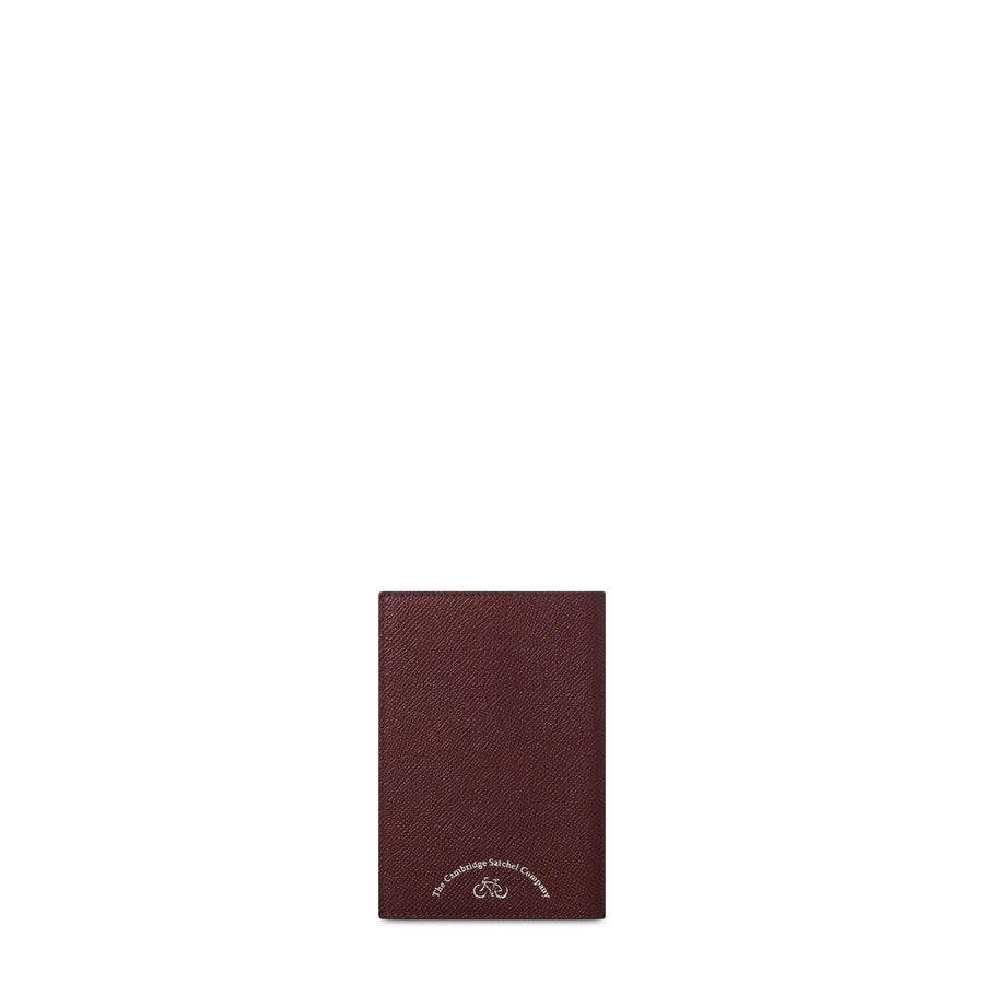 Passport Cover in Saffiano Leather - Oxblood