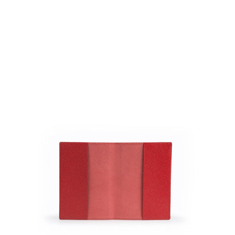 Passport Cover in Saffiano Leather - Red Saffiano
