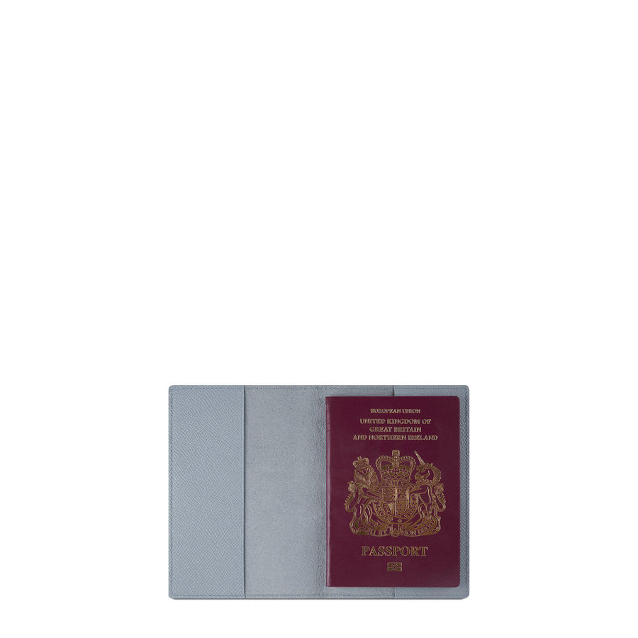 Passport Cover in Saffiano Leather - French Grey