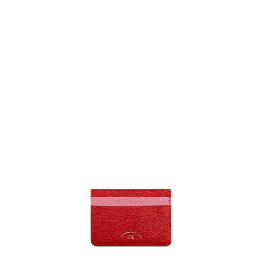 The Cambridge Satchel Company Scoop Side Card Case in Leather - Pink / Red