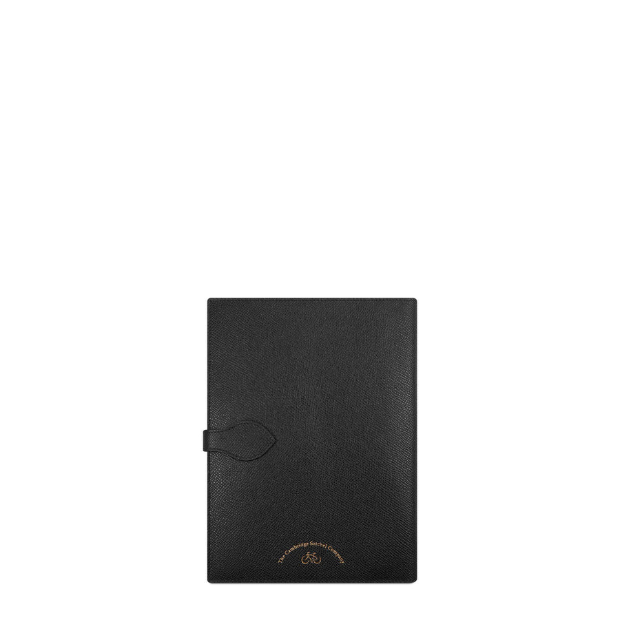 Travel Document Case in Saffiano - Black