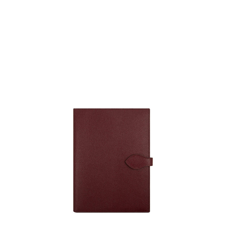 Travel Document Case in Saffiano - Oxblood