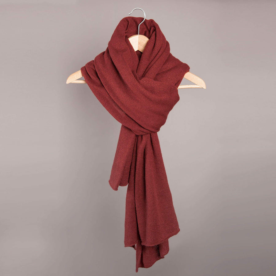 Womens- Cambridge Life Cashmere Scarf - Oxblood