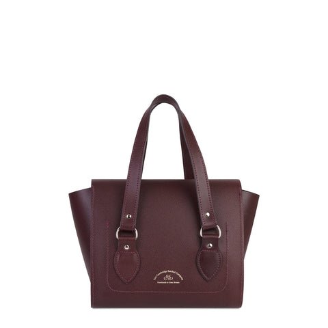 The Small Emily Tote - Oxblood Saffiano