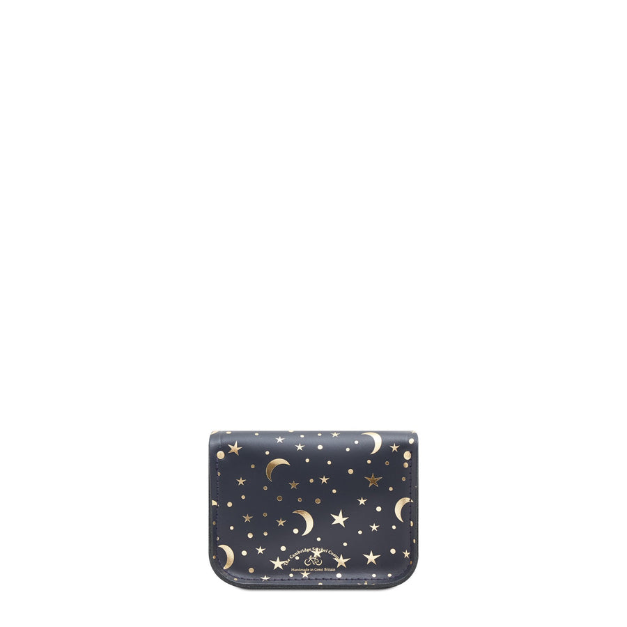 Tiny Satchel in Leather - Starstruck on Navy | Women's Cross Body & Clutch Bag