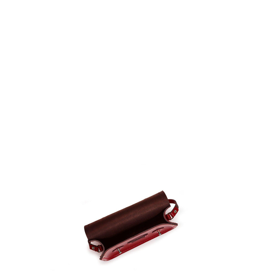 Tiny Satchel in Leather - Red
