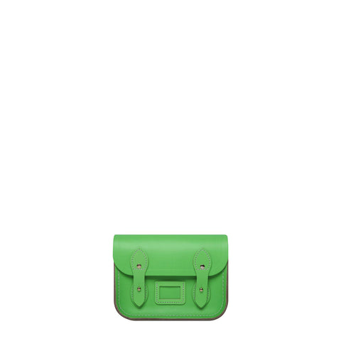 Tiny Satchel in Leather - Fluoro Green