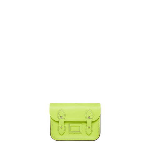 Tiny Satchel in Leather - Fluoro Yellow