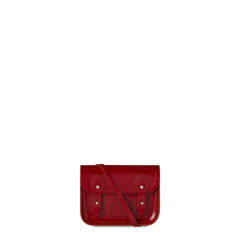 Tiny Satchel in Leather - Red Patent