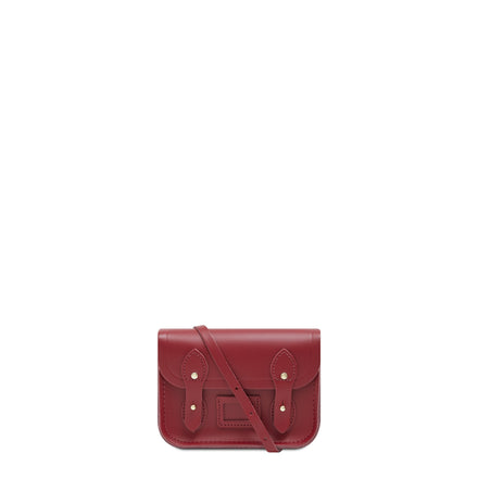 Tiny Satchel in Leather - Rhubarb Red | Cambridge Satchel