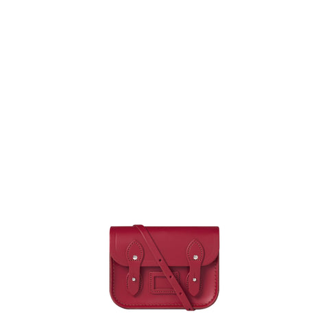 Tiny Satchel in Leather - Crimson