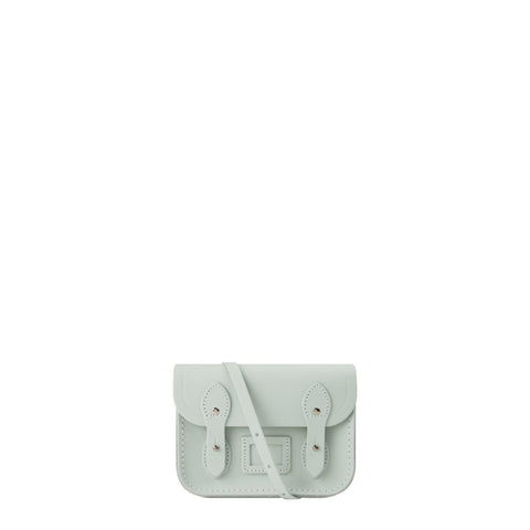 Tiny Satchel in Leather - Matte Eggshell