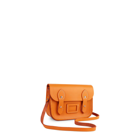 Tiny Satchel in Leather - Sunset
