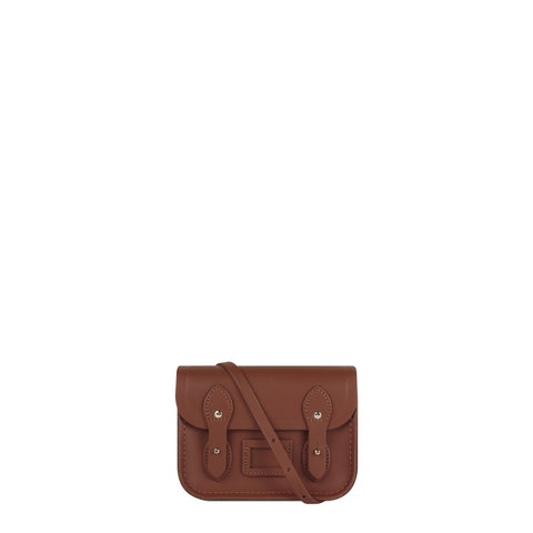 Tiny Satchel in Leather - Saddle