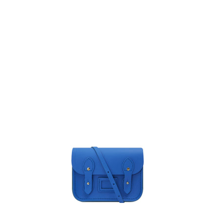 Tiny Satchel in Matte Leather - Electric Cornflower