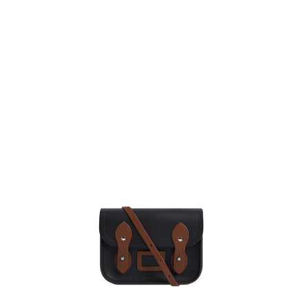 Tiny Satchel in Leather - Dark Brown & Vintage