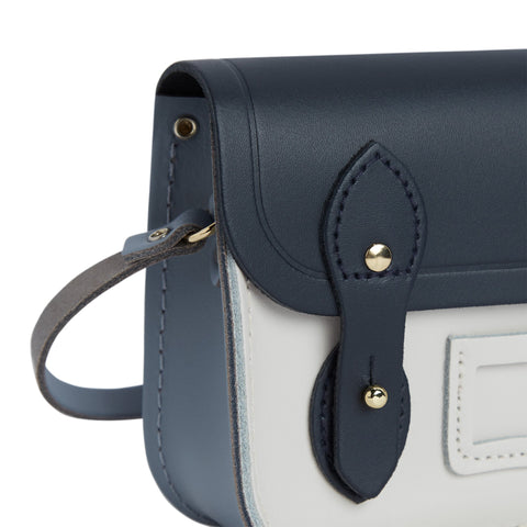 Tiny Satchel in Leather - Navy, French Grey & Clay | Cambridge Satchel