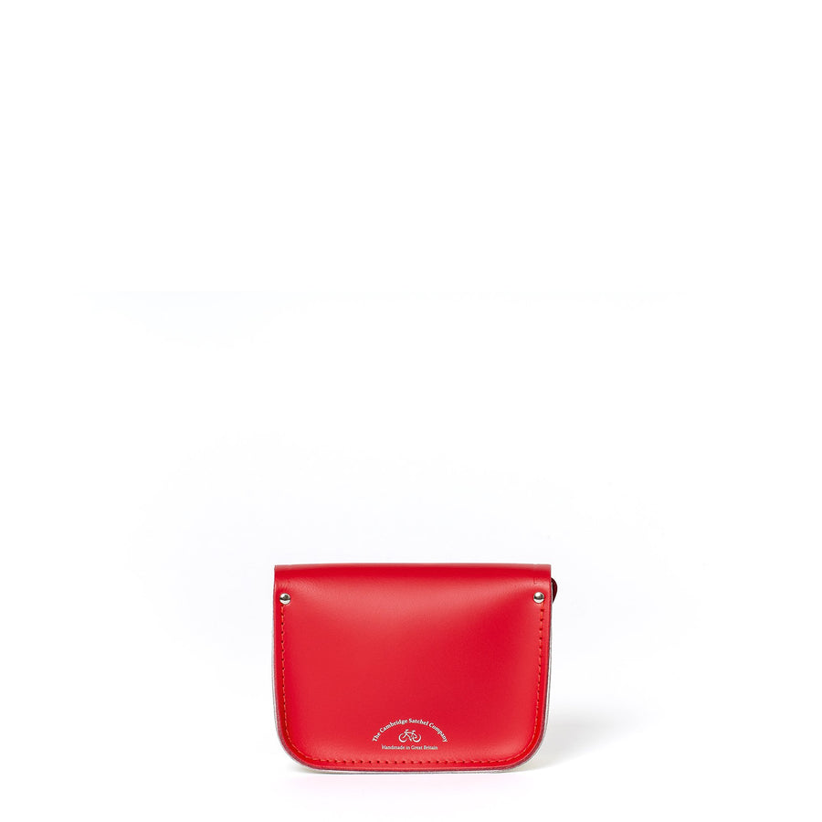 Tiny Satchel in Leather - Red Berry, Lily White & Bluebell Matte