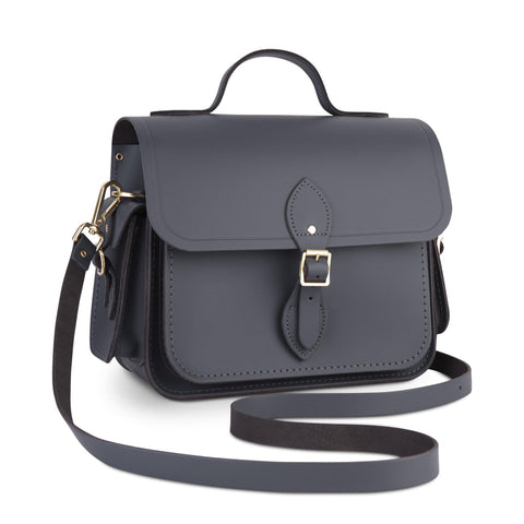 Large Traveller Bag with Side Pockets in Leather - Dapple Matte