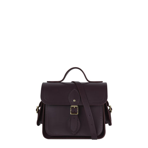 Traveller Bag with Side Pockets in Leather - Juniper