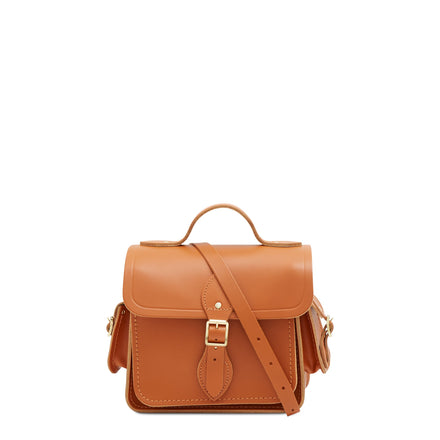 Traveller Bag with Side Pockets in Leather - Caramello | Unisex Cross Body Bag