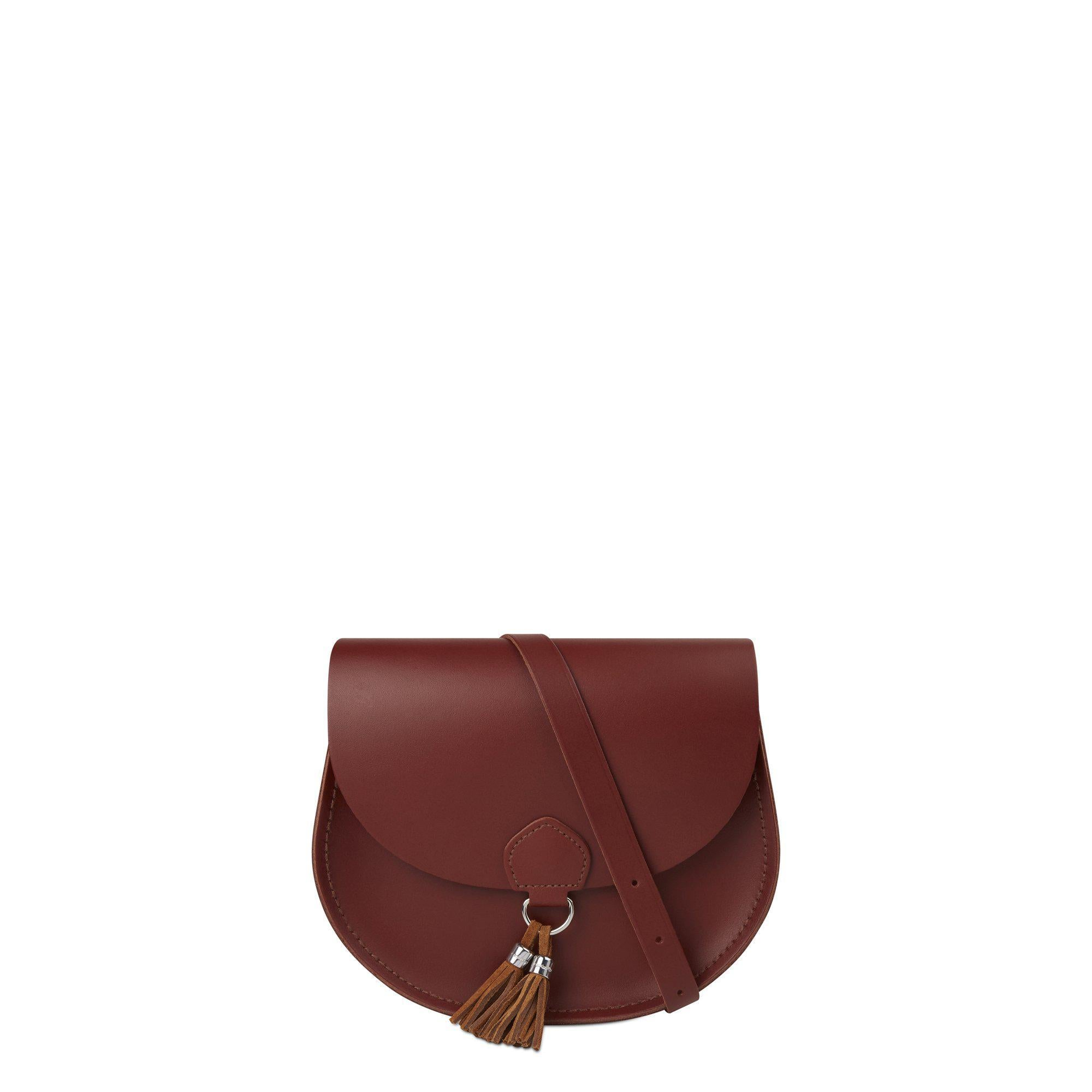 Tassel Bag in Leather - Brandy & Vintage Suede