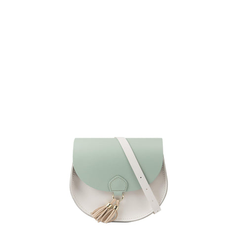 Tassel Bag in Leather - Sabi Green & Clay